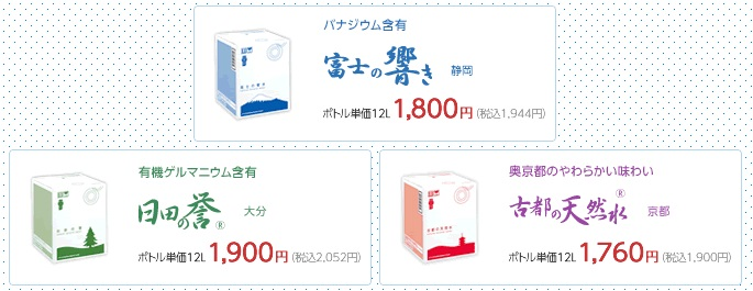 天然水の価格一覧